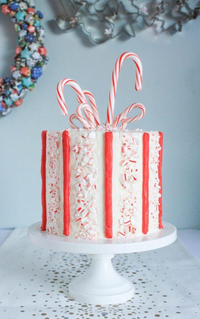 Candy Cane Stripe Cake | Erin Gardner