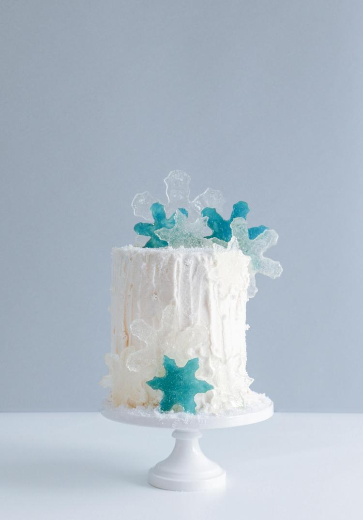 Candy Snow Flakes on The Cake Blog | Erin Gardner