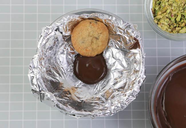Adding the first cookie. | Erin Gardner | Erin Bakes