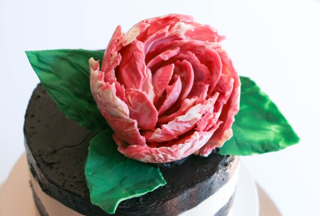 Erin Bakes Cake Chocolate Peony