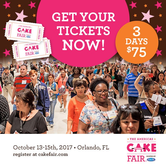 Cake Fair Tickets 2017