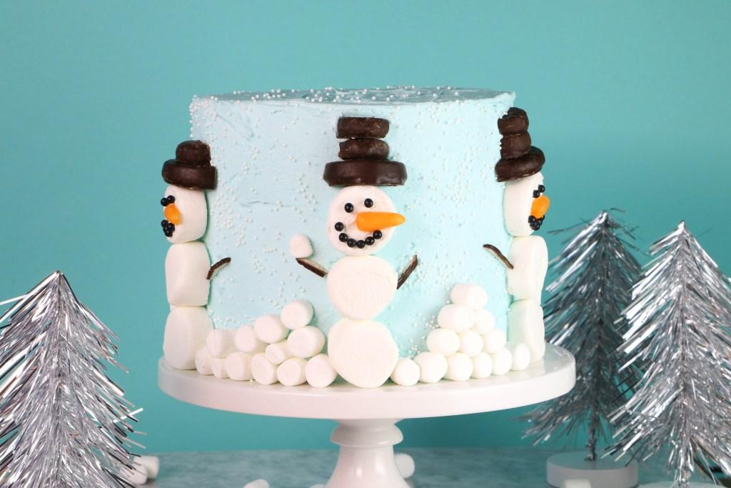 Easy Marshmallow Snowman Cake | Erin Gardner | Erin Bakes