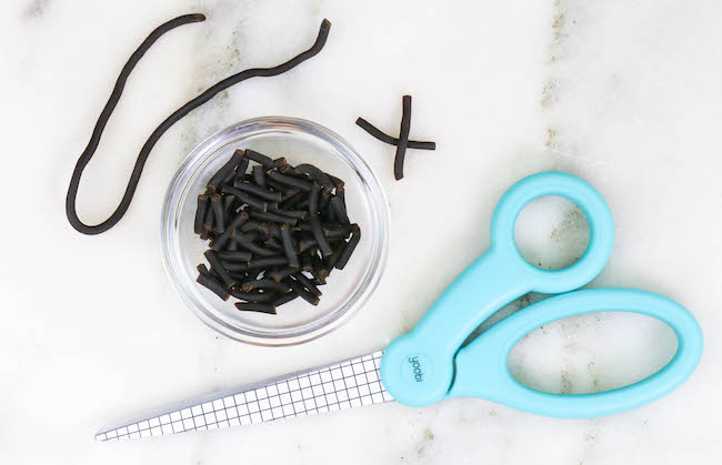 Cut Pieces of Licorice Rope | Erin Bakes