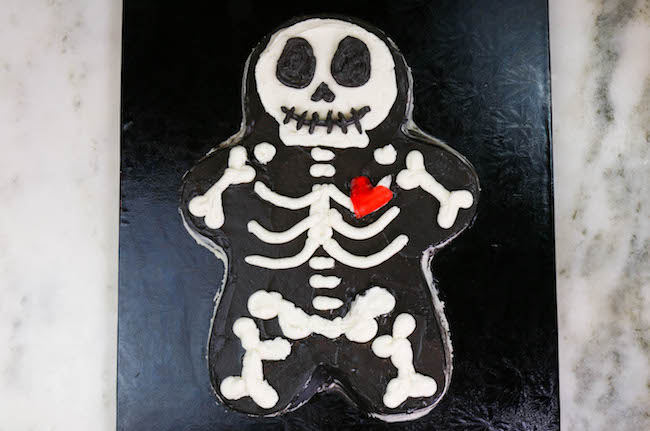 Halloween Gingerbread Man Skeleton Cake | Erin Bakes