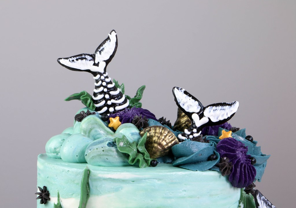 Mermaid Tail Skeleton Cake