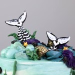 Top of the Mermaid Tail Skeleton Cake | Erin Bakes