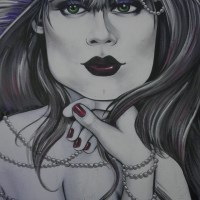 San Francisco Street Art: Soma Purple Lady