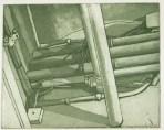 """Pipes II, intaglio, 5"""" x 5.5"""", 2007."""