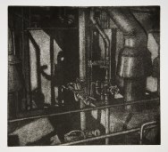 "Boiler Room II, intaglio, 6.5"" x 7"", 2008."