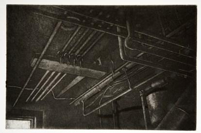 "Boiler Room VII, intaglio, 5.5"" x 3.75"", 2008."