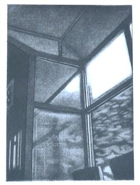 """Cafe Portrait, intaglio, 5.5"""" x 7"""", 2009."""