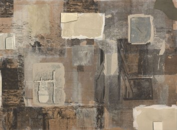 """Untitled, intaglio and Xerox transfer on panel, 30"""" x 22"""", 2010."""