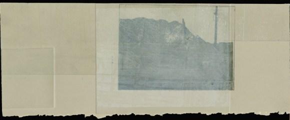 "Untitled fragment, intaglio print, 13""x6,"" 2010."