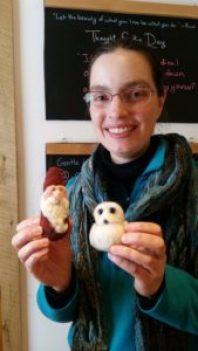 holding felted critters