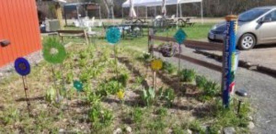 peace pole in garden