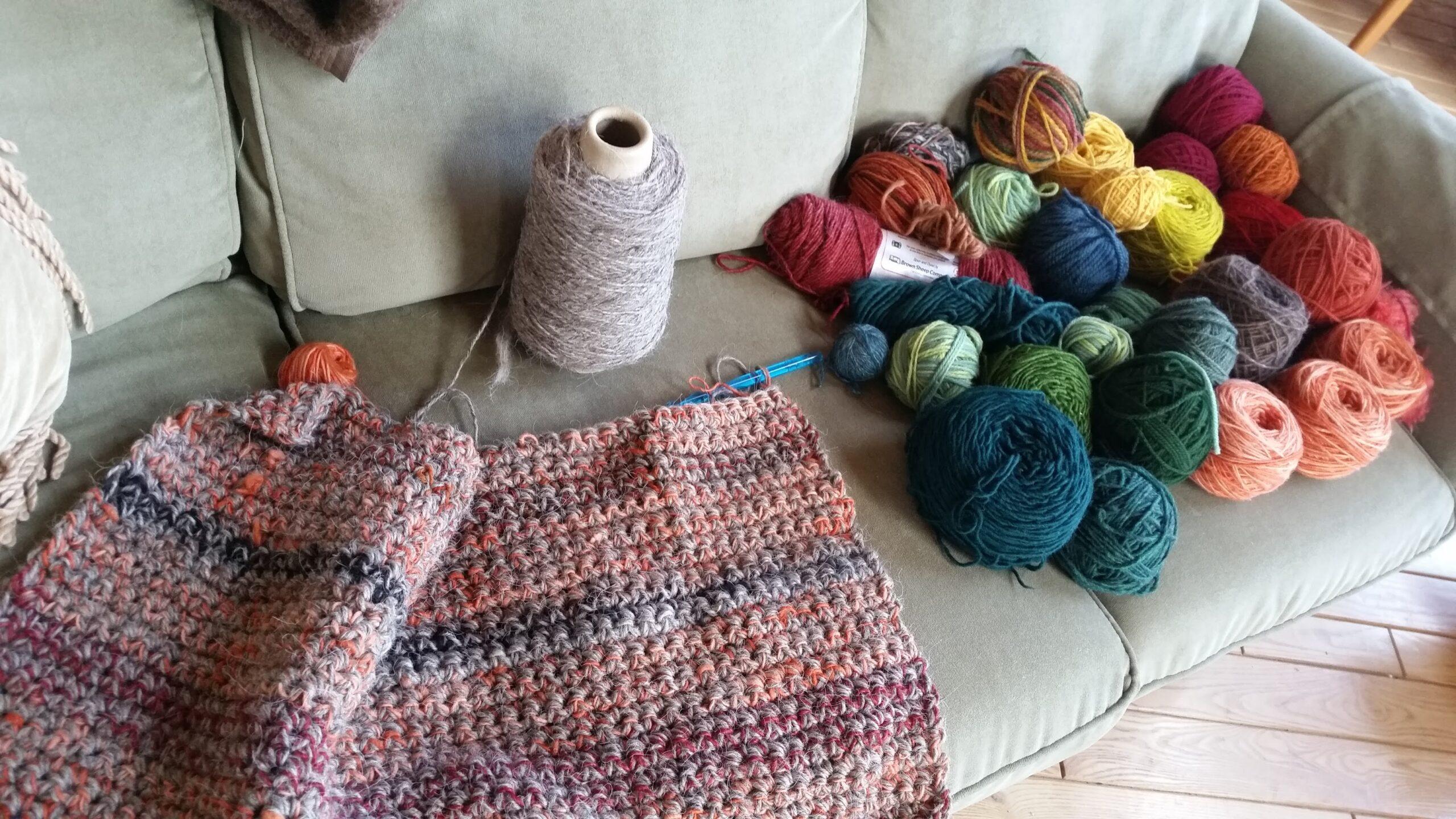 rug in progress