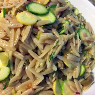 End of Summer Side Dish: Summer Squash Orzo Salad