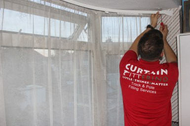 fitting a corded curtain rail