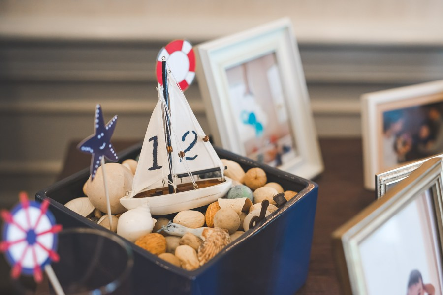 Sailboat birthday party decoration