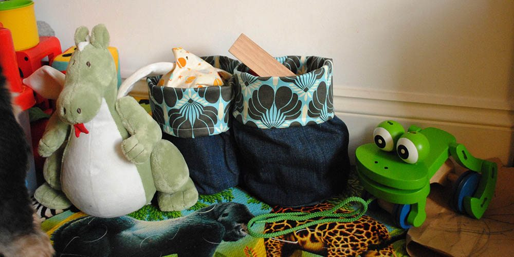 soft storage bins soft sided make soft storage bins from old jeans erin at large