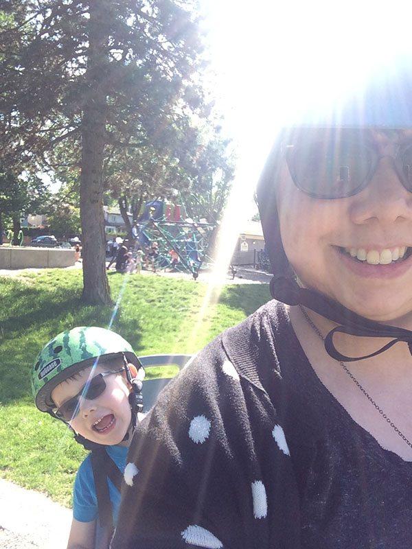 biking from school