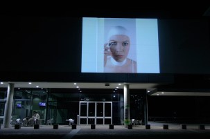 Erin Gee - Voice of Echo installation at Queensland University of Technology, Brisbane AU. Photo by Olivia Porgand