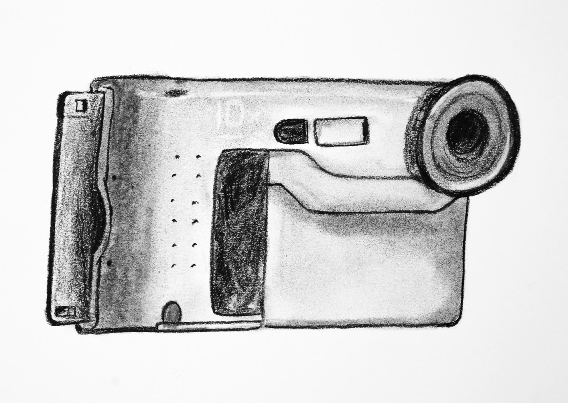 Coffee Sketch #17, created 2/2/16. Sony Mavica FD-73 (1999). Sketch Version #2.
