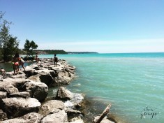 Lake Huron at Goderich in June. The bluest water I've ever seen.