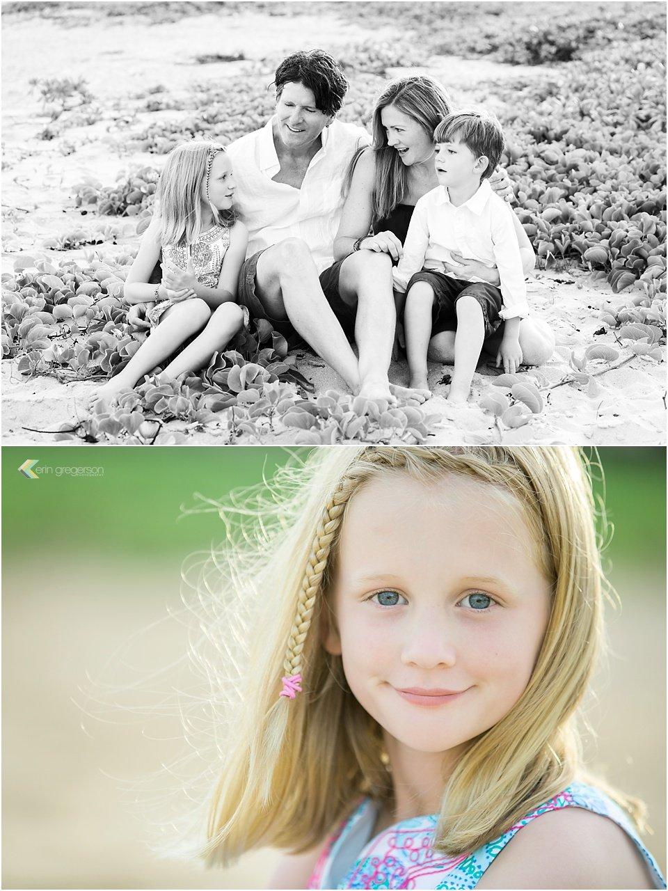 Family photos celebrating anniversary Kauai