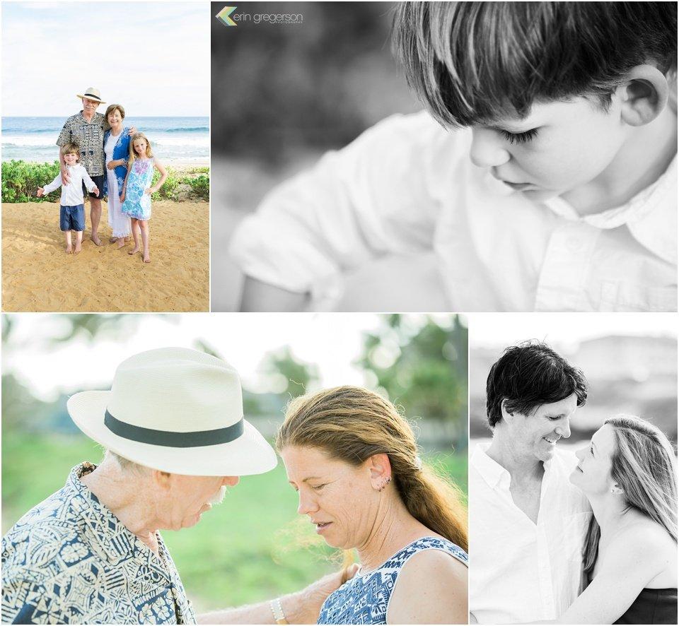 Anniversary family photos on Kauai
