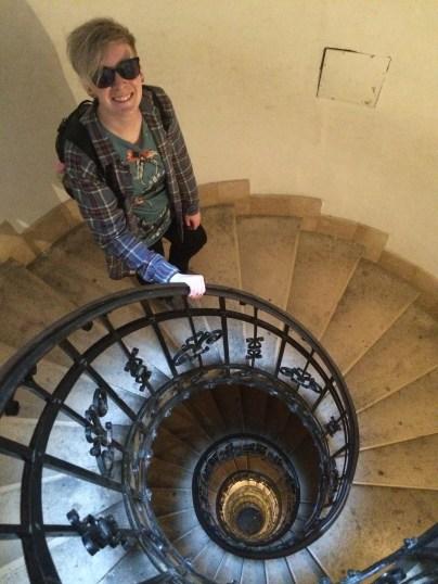 Spiral Staircase up the Bazilika