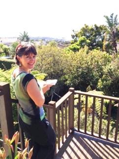 Toni on location