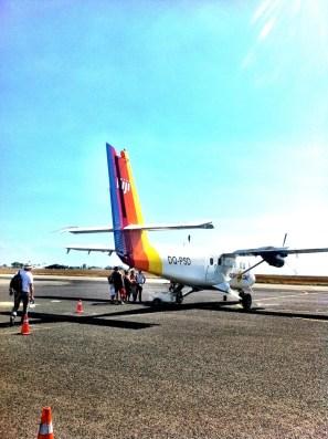 Boarding the little plane to Savusavu