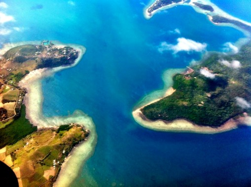 Islands and reefs from above