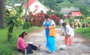 Sketching at Vivili Village