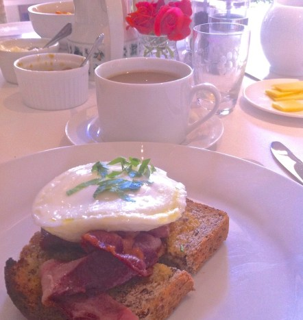 Egg on toast and coffee. Havelock House