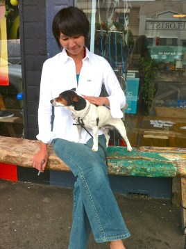 Atsuko and Jack Russell