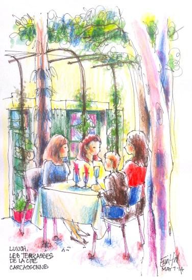 A delicious lunch spot. Les Terrasses De La Cite