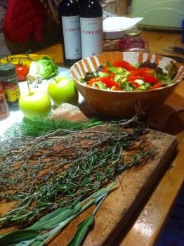 Fresh herbs from the garden, for dinner