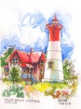 Sketched roadside. Cape Cod lighthouse
