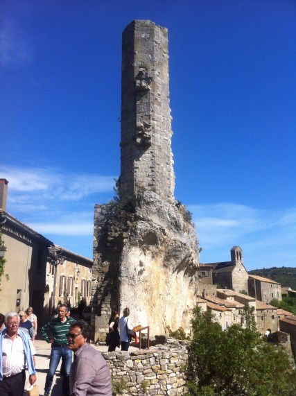 The remains of the chapel. Minerve Cathar town