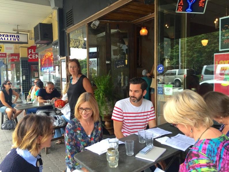 Saturday. Outside at Belgrave Cartel. Cafe. JPG