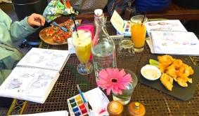 Thursday. Cafe InSitu sketching