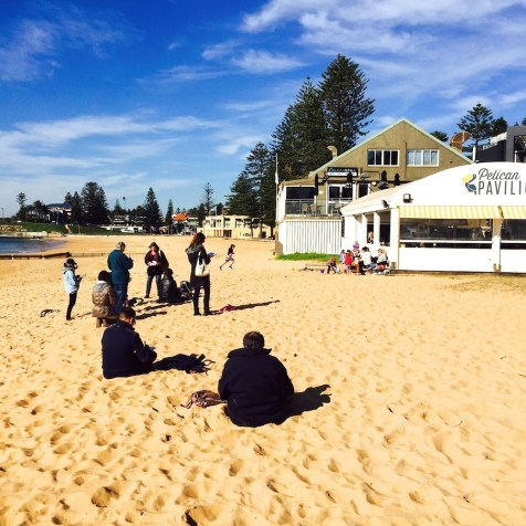 Thursday. Sand sketching at Collaroy