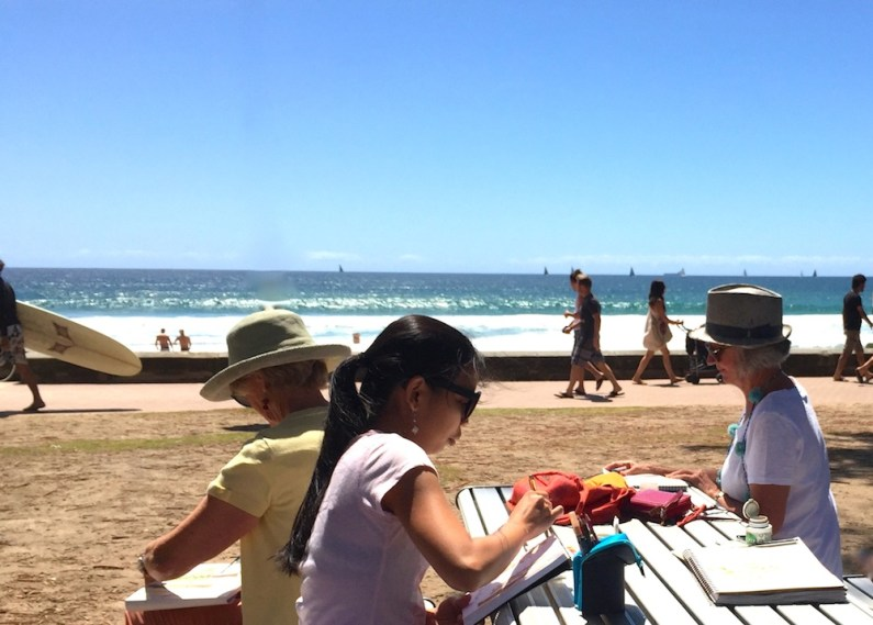 SatGen. Down by the beach