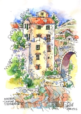 Tall houses of Minerve