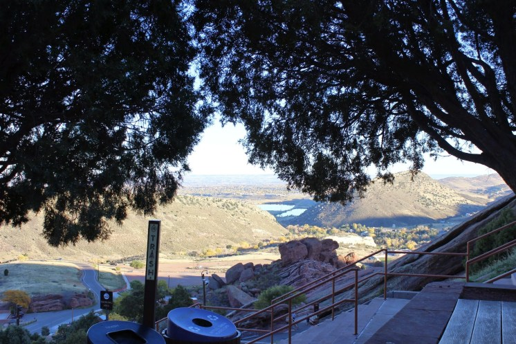 Top of Red Rocks Amphitheatre, looking out, Denver