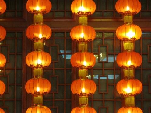 Lanterns at a restaurant