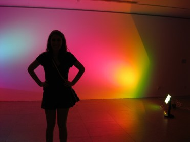 My sister at an art museum