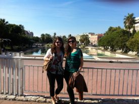Mel and me in main square